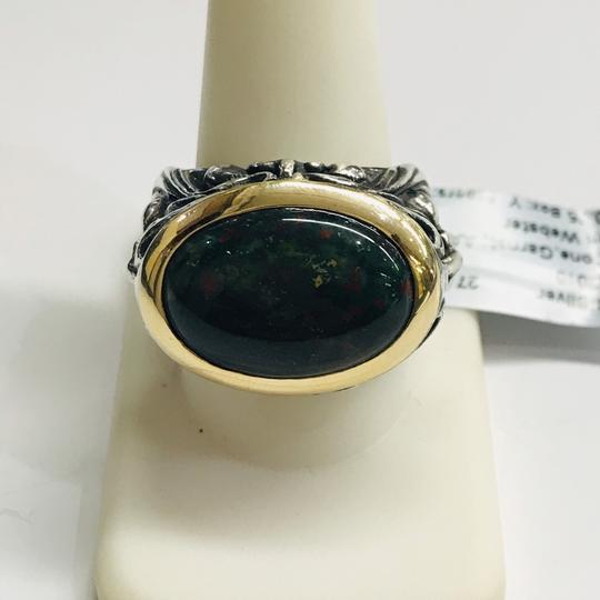 Stephen Webster NEVER WORN!! Stephen Webster Silver/18 Karat Yellow Gold Blood Stone and Garnet Gargoyle Oval Ring Sterling Silver/18 Karat Yellow Gold 27.1 grams Size 10.75 100% Authentic Guaranteed!! Comes with Original Stephen Webster Pouch!! Image 3