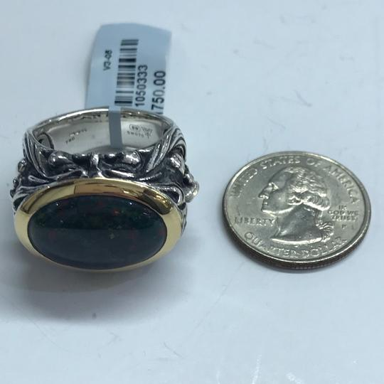 Stephen Webster NEVER WORN!! Stephen Webster Silver/18 Karat Yellow Gold Blood Stone and Garnet Gargoyle Oval Ring Sterling Silver/18 Karat Yellow Gold 27.1 grams Size 10.75 100% Authentic Guaranteed!! Comes with Original Stephen Webster Pouch!! Image 4
