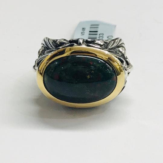 Stephen Webster NEVER WORN!! Stephen Webster Silver/18 Karat Yellow Gold Blood Stone and Garnet Gargoyle Oval Ring Sterling Silver/18 Karat Yellow Gold 27.1 grams Size 10.75 100% Authentic Guaranteed!! Comes with Original Stephen Webster Pouch!! Image 5