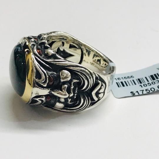 Stephen Webster NEVER WORN!! Stephen Webster Silver/18 Karat Yellow Gold Blood Stone and Garnet Gargoyle Oval Ring Sterling Silver/18 Karat Yellow Gold 27.1 grams Size 10.75 100% Authentic Guaranteed!! Comes with Original Stephen Webster Pouch!! Image 6