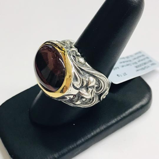 Stephen Webster NEVER WORN!! Stephen Webster Silver/18 Karat Yellow Gold Bullseye Stone and Garnet Gargoyle Oval Ring Sterling Silver/18 Karat Yellow Gold 27.1 grams Size 10.25 100% Authentic Guaranteed!! Comes with Original Stephen Webster Pouch!! Image 1