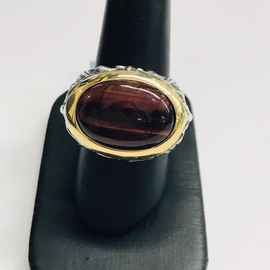 Stephen Webster NEVER WORN!! Stephen Webster Silver/18 Karat Yellow Gold Bullseye Stone and Garnet Gargoyle Oval Ring Sterling Silver/18 Karat Yellow Gold 27.1 grams Size 10.25 100% Authentic Guaranteed!! Comes with Original Stephen Webster Pouch!! Image 2