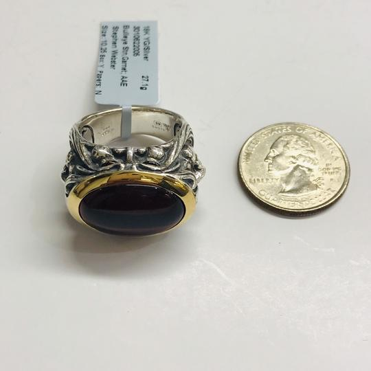 Stephen Webster NEVER WORN!! Stephen Webster Silver/18 Karat Yellow Gold Bullseye Stone and Garnet Gargoyle Oval Ring Sterling Silver/18 Karat Yellow Gold 27.1 grams Size 10.25 100% Authentic Guaranteed!! Comes with Original Stephen Webster Pouch!! Image 8