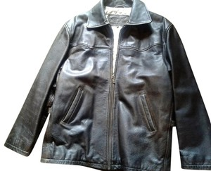 Massimo Nappa Longlsleeves Zipped Front 3 Made In Pakistan brown Leather Jacket