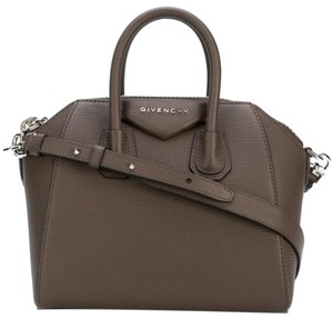 Givenchy Mini Antigona Antigona Satchel in Heather Grey