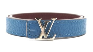 Louis Vuitton RARE silver LV logo hardware double tour bracelet