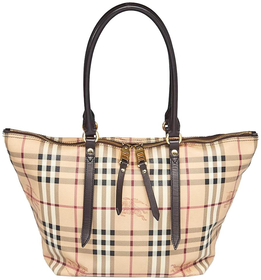 6617a39fe94f Burberry New Small Haymarket Check Salisbury Chocolate Pvc   Leather ...