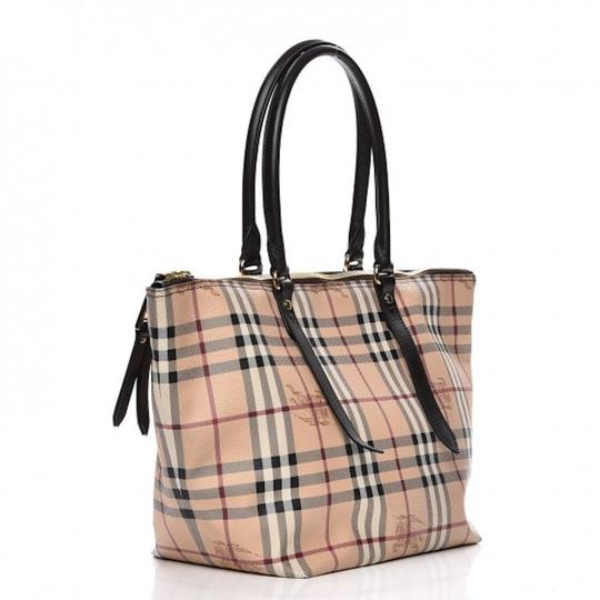 ee0a4f41173 Burberry Haymarket Tote in Chocolate  Burberry Haymarket Tote in Chocolate