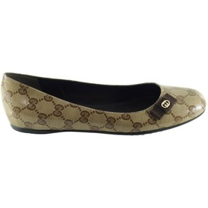 Gucci Crystal Gg 39 Beige Flats