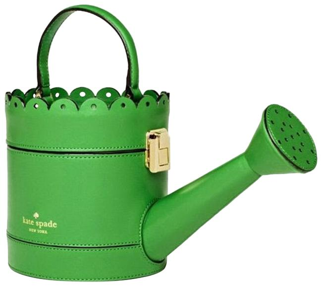 Item - Watering Can Green Leather Clutch