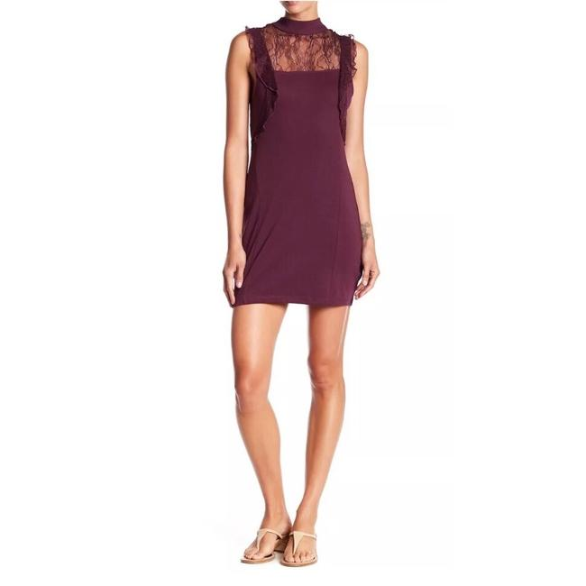 Item - Plum Beaumont Muse Lace Mini Med. Short Night Out Dress Size 8 (M)
