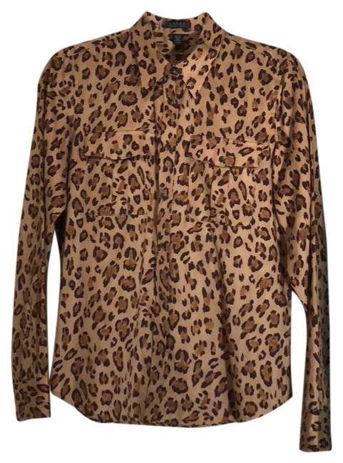 Item - Brown Tan Blouse Size 8 (M)