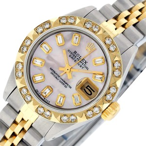 Rolex Rolex Ladies Datejust SS & 18K Yellow Gold with Pink MOP Diamond Dial