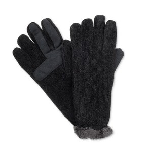 Isotoner Cable Chenille smarTouch Microluxe Gloves