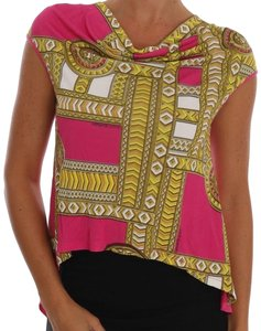 Versace Jeans Collection Bgtsh1462 T Shirt Pink White
