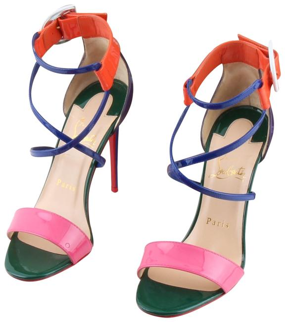 Item - Multicolor Choca Patent Leather Ankle Cuff Heel S Sandals Size US 7 Narrow (Aa, N)