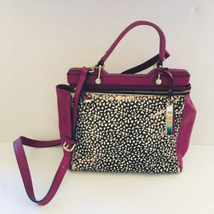 Vince Camuto Satchel in Magenta and Gold