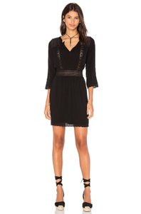 Heartloom short dress Black Anthropologie Cut-out Lace Trim Boho Chic on Tradesy