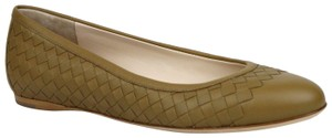 Bottega Veneta Women's Intrecciato Leather Brown Flats