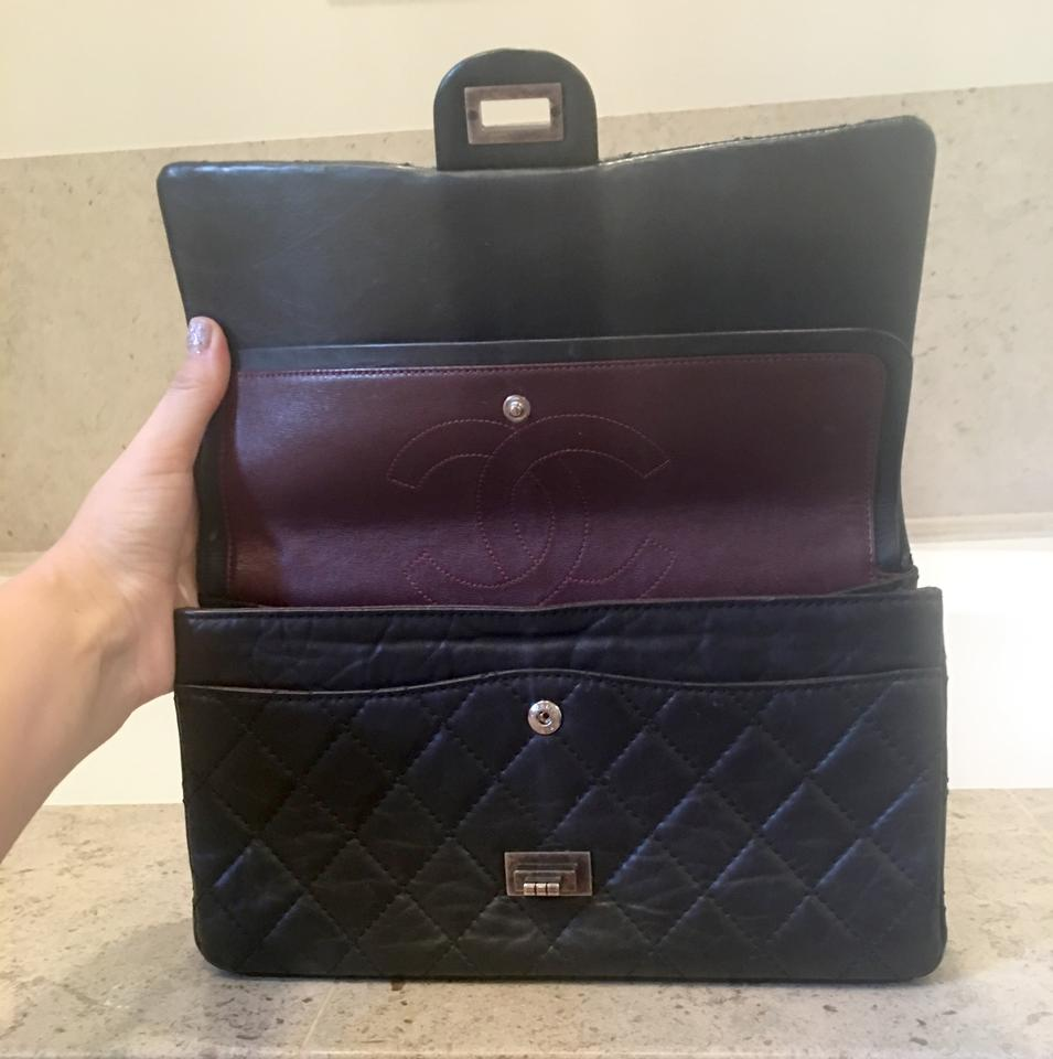 f2bc5423e8bb Chanel Classic Flap 2.55 Reissue 2.55 Reissue- 225 Black Calfskin Leather  Shoulder Bag