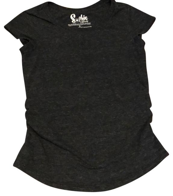 sophie Charcoal Gray Maternity Top Size 4 (S) sophie Charcoal Gray Maternity Top Size 4 (S) Image 1