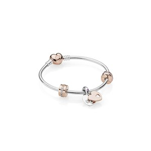 PANDORA In My Heart Bracelet Gift Set, PANDORA Rose™, Clear CZ and Multi-Color