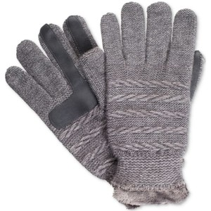 Isotoner Sparkle Textured Knit smarTouch Microluxe Gloves