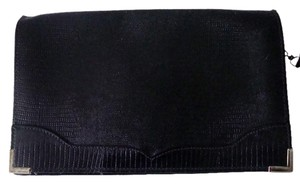 Hala Vintage Leather Black Clutch