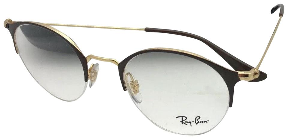 0ce1c3471eff Ray-Ban New Rb 3578-v 2905 48-22 145 Shiny Brown & Gold Frame W ...