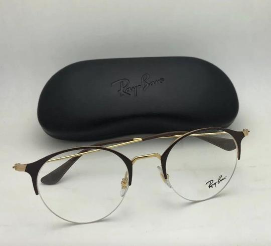 Ray-Ban New RAY-BAN Eyeglasses RB 3578-V 2905 48-22 145 Shiny Brown & Gold Fra Image 1