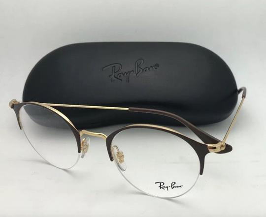 Ray-Ban New RAY-BAN Eyeglasses RB 3578-V 2905 48-22 145 Shiny Brown & Gold Fra Image 10