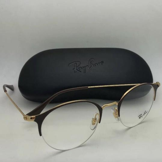 Ray-Ban New RAY-BAN Eyeglasses RB 3578-V 2905 48-22 145 Shiny Brown & Gold Fra Image 11