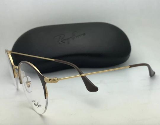 Ray-Ban New RAY-BAN Eyeglasses RB 3578-V 2905 48-22 145 Shiny Brown & Gold Fra Image 3