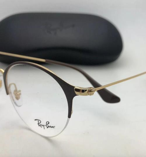 Ray-Ban New RAY-BAN Eyeglasses RB 3578-V 2905 48-22 145 Shiny Brown & Gold Fra Image 4