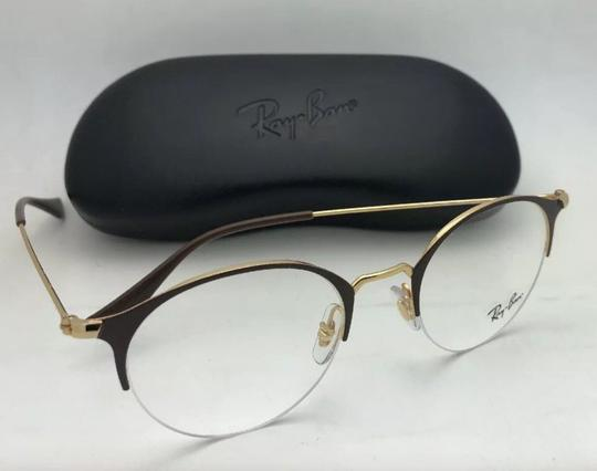 Ray-Ban New RAY-BAN Eyeglasses RB 3578-V 2905 48-22 145 Shiny Brown & Gold Fra Image 6