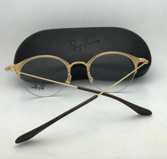 Ray-Ban New RAY-BAN Eyeglasses RB 3578-V 2905 48-22 145 Shiny Brown & Gold Fra Image 7