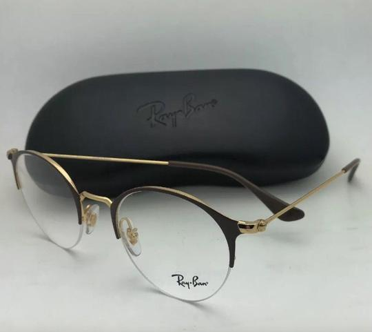 Ray-Ban New RAY-BAN Eyeglasses RB 3578-V 2905 48-22 145 Shiny Brown & Gold Fra Image 9