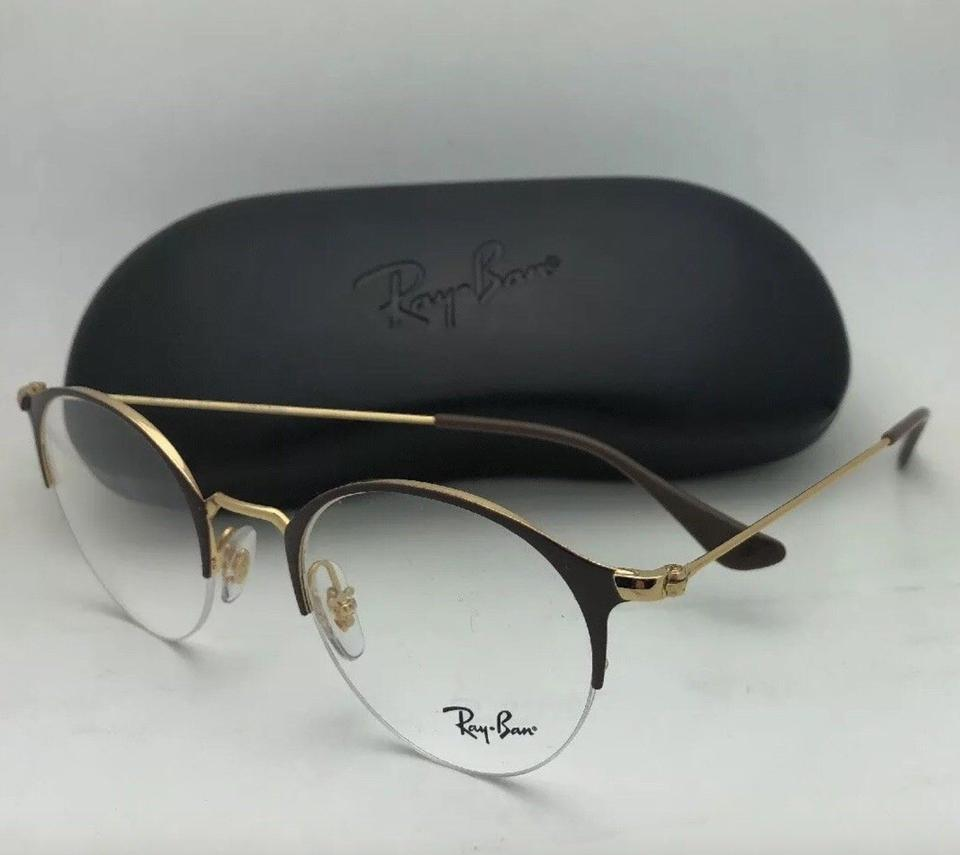 def3bc189cb9 Ray-Ban New Rb 3578-v 2905 48-22 145 Shiny Brown & Gold Frame W/Clear Fra  Sunglasses - Tradesy