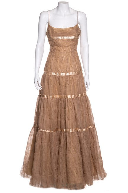Preload https://img-static.tradesy.com/item/24225625/angel-sanchez-nude-pleat-detail-gown-long-formal-dress-size-4-s-0-0-650-650.jpg