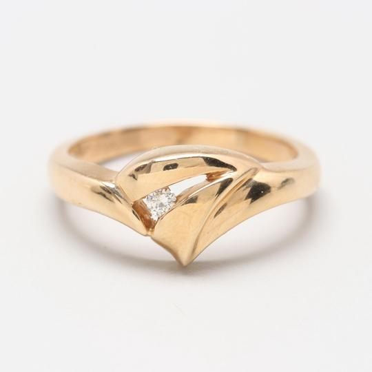 Others 14K Yellow Gold Diamond Ring Image 1