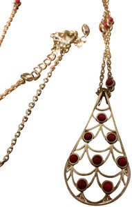 Lia Sophia Lia Sophia gold and red long necklace