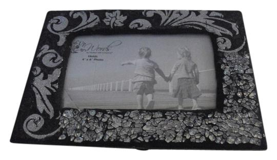 Other Black/Silver Glitter Picture Frame Hold 4