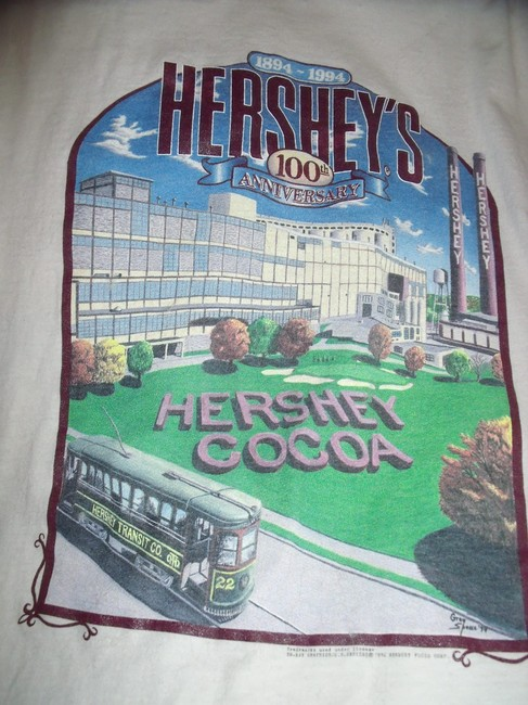 Lee Hershey Chocolate Factory Vintage T-shirt Candy T Shirt White Image 1