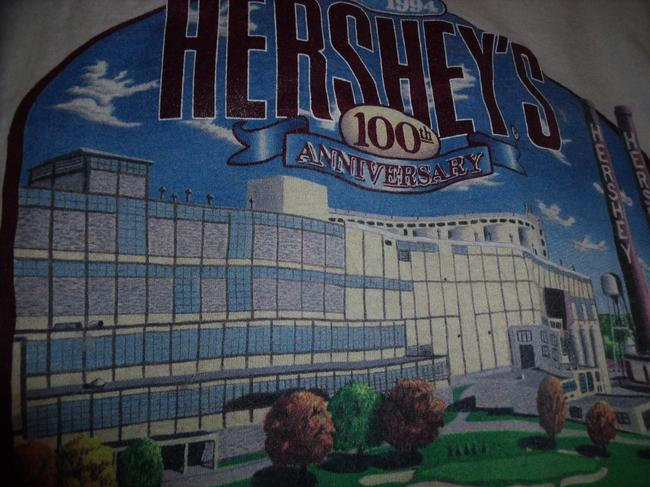 Lee Hershey Chocolate Factory Vintage T-shirt Candy T Shirt White Image 2