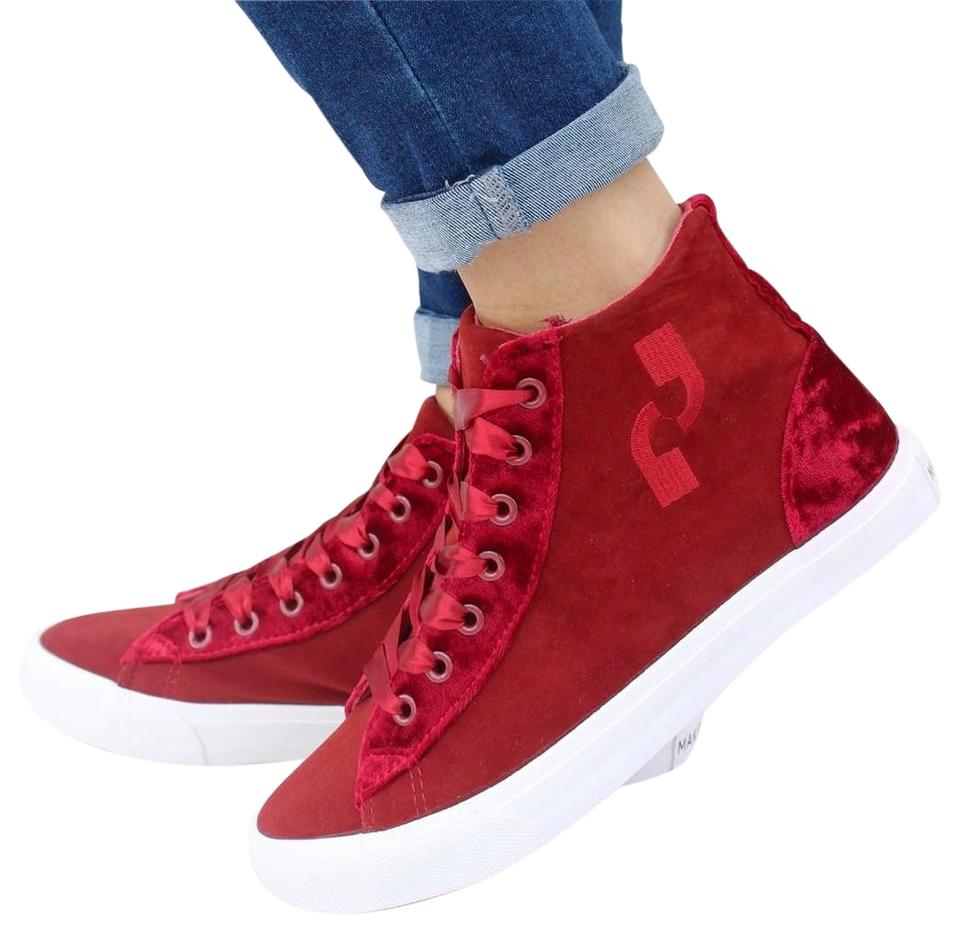 ede5f27b5d92 Makers Dark Red Gaby 5 High Top Sneakers Size US 9.5 Regular (M