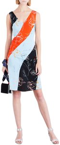 Diane von Furstenberg short dress Blue Red Black on Tradesy