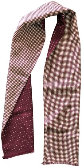 Preload https://img-static.tradesy.com/item/24226277/ralph-lauren-burgundy-cream-silk-houndstooth-polka-dot-scarfwrap-0-1-540-540.jpg