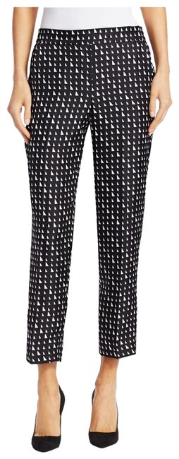 Item - Black and White Bnwt Silk Pull On Trouser Sl Pants Size 8 (M, 29, 30)