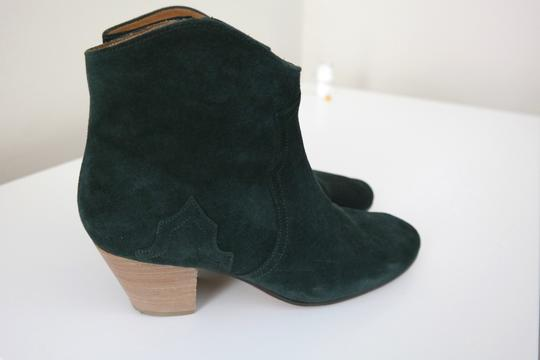 toile Isabel Marant Suede Cowboy Faded Black Boots Image 4