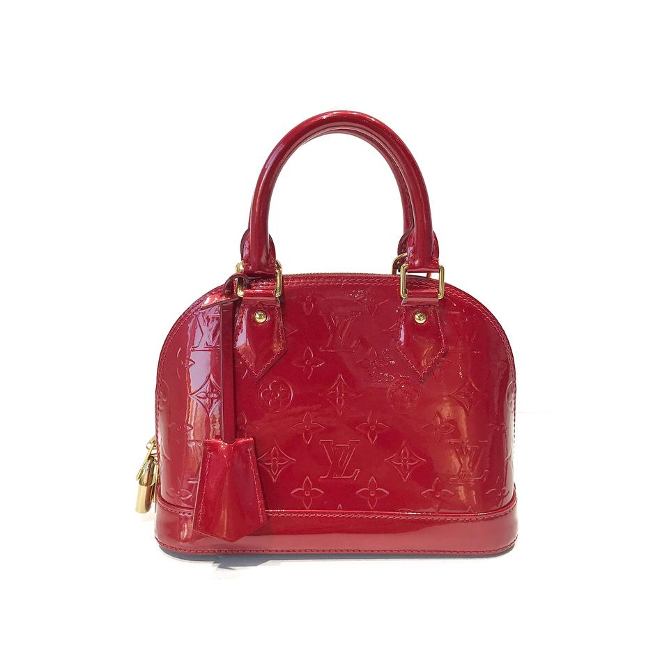Louis Vuitton Alma Vernis Bb Red Patent Leather Cross Body Bag - Tradesy c0cd27b9be
